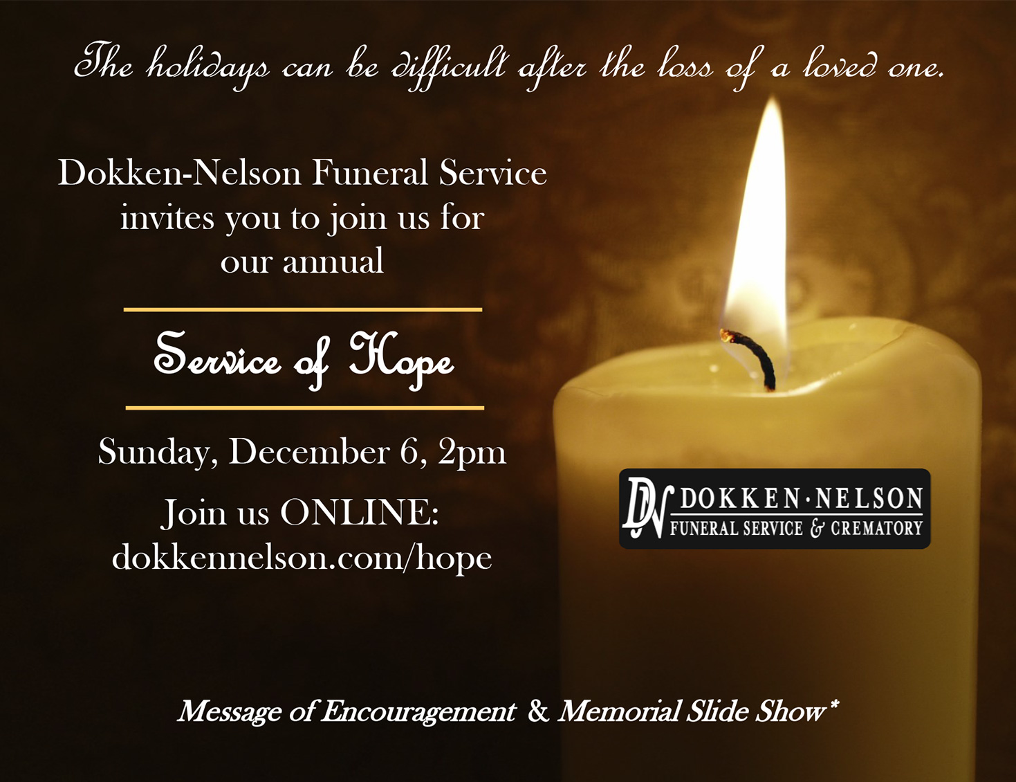 Annual Service of Hope